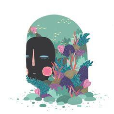 Deep Sea by MARINA MUUN, via Behance.     http://www.room181.net/SITIO/HUESPEDES/12/