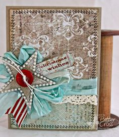 Card by Patter Cross using the new Blue Fern Studios Sanctuary papers.