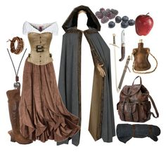 """""""lotr / middle earth"""" by xkitten-pokerx ❤ liked on Polyvore featuring GERMAN PRINCESS, Frye, Coltellerie Berti, Chan Luu, FOSSIL and Pier 1 Imports"""