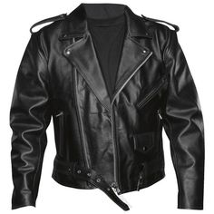 Handmade men black belted biker leather jacket, men Brando style black biker leather jacket. Only $139.99