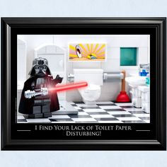 Star Wars™ Bathroom Decor: Lack of Toilet Paper