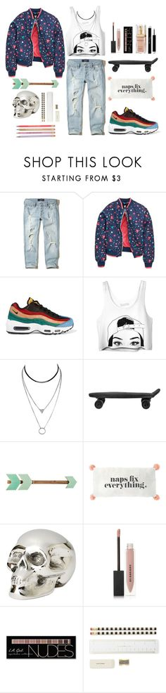 """street glory"" by zoeypoly ❤ liked on Polyvore featuring Hollister Co., NIKE, BoConcept, Jan Barboglio, Burberry, Charlotte Russe, Kate Spade, ban.do and Elizabeth Arden"