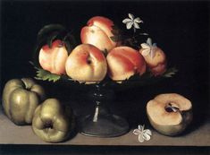 Fede Galizia Still Life with Apples and Peaches 1607 Still Life With Apples, Still Life Fruit, Italian Renaissance, Renaissance Art, Chef D Oeuvre, Oeuvre D'art, Fruit Picture, Types Of Fruit, Fruit Painting