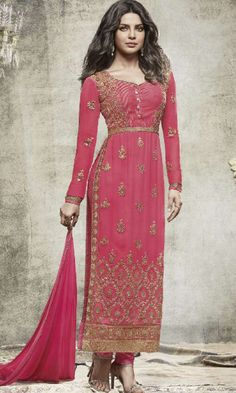 Buy online pants style Pink Straight Cut Salwar Kameez (SKU Code : SUEJDSHR5150) at Ishimaya Fashion.
