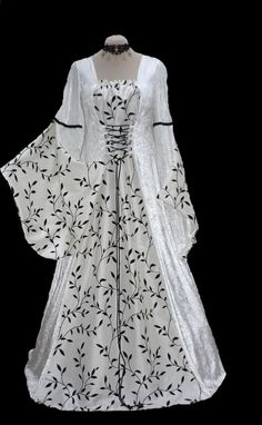 medieval wedding dress-with a little gothic style