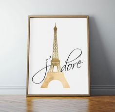 Eiffel Tower Paris France French Quote by off2marketPrintables