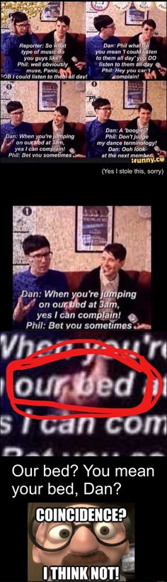 """our bed"" OMFG PHAN FANS ARE GOING TO FLIP OUT - Dan and phil"