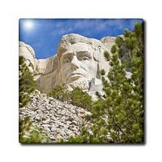 """Abraham Lincoln, Mount Rushmore, South Dakota - US42 BJA0017 - Jaynes Gallery - 12 Inch Ceramic Tile by 3dRose. $22.99. Construction grade. Floor installation not recommended.. Image applied to the top surface. High gloss finish. Dimensions: 12"""" H x 12"""" W x 1/4"""" D. Clean with mild detergent. Abraham Lincoln, Mount Rushmore, South Dakota - US42 BJA0017 - Jaynes Gallery Tile is great for a backsplash, countertop or as an accent. This commercial quality construction grade ti..."""
