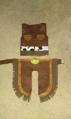 652dd1e077c Easy felt cowboy chaps and vest!! Axel s 1st Halloween costume. Diy Baby  Costumes