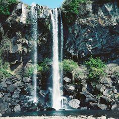 Jeongbang Waterfall, Jeju Island, South Korea