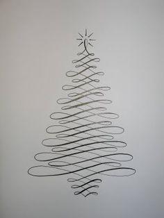 A Place To Flourish: Flourish Friday - Calligraphy Christmas Tree
