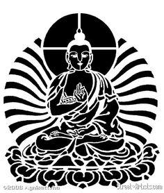 buddha stencil | Buddha Series #1 - Street-Artists.com