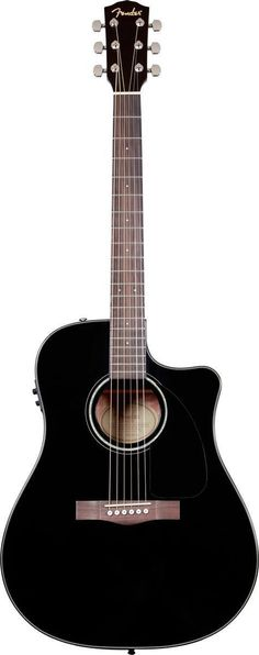 Fender CD-60CE Acoustic-Electric Guitar The CD-60CE dreadnought cutaway boasts features you'd expect on much more expensive instruments, with a spruce top and choice of natural, sunburst and black fin