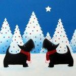 Winter Wonderland: A Scottie Dog Christmas Card by Fat Hen