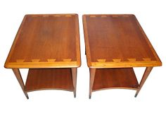 One Kings Lane - With the Wallet in Mind - Mid-Century Modern  Teak Tables, Pair
