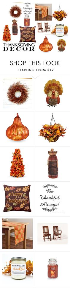 """""""Thanksgiving"""" by arianagrandefan90302 ❤ liked on Polyvore featuring interior, interiors, interior design, home, home decor, interior decorating, Improvements, DutchCrafters and ThanksgivingDecor"""