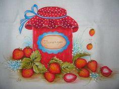 pintura pote de geléia - Pesquisa Google