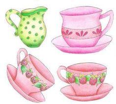 Moda ve Hobi Perisi: Dekupaj Desenleri Sugar Bowl, Bowl Set, Coffee Cups, Decoupage, Coffee Mugs, Coffeecup