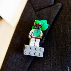 The Boutonniere I made for my wedding. Each groomsman has a different Star Wars Lego character. This was my friend @David SEIBEI's. The boys appreciated these more than the ones made from flowers.