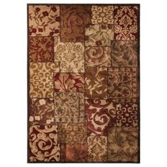 Mohawk Home Patchwork Accent Rug #setthetable #mohawkhome- Rust