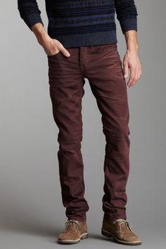 Stitch's Men Barfly Slim Fit Jean in Malbec maroon