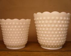 Have 4 of these! Flower Pots, Flowers, Anchor Hocking, Milk Glass, Planter Pots, Fire, Vintage, Flower Vases, Plant Pots