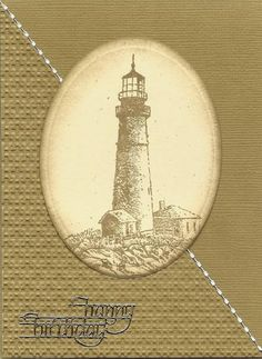 Lighthouse card (sand) by cards4joy - Cards and Paper Crafts at Splitcoaststampers