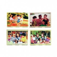 Diversity Awareness Puzzle Set,  Four wooden peg puzzles feature photographs of happy friends of various ethnic backgrounds enjoying life's activities together