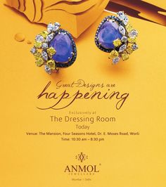 Great Event to view unique designs of ‪#‎jewellery‬ presented by Anmol Jewellers , today at @FourSeasonsHotelMumbai
