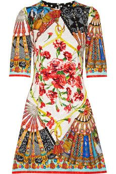 Dolce & Gabbana Printed matelassé mini dress | transports me to Spring!