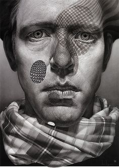 Incredible Self-Portraits by Ian Ingram American artist Ian Ingram uses his own image to create amazing realistic charcoal and pastel drawings that are autobiographical reflections of meaningful events in his life.