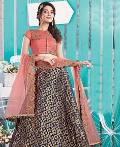 #hey @a1designerwear . Item code: APRL4293 . Buy Enticing Navy Blue #Lehenga #Choli #onlineshopping with #worldwideshipping at  https://www.a1designerwear.com/enticing-navy-blue-lehenga-choli   . #a1designerwear #a1designerwear . #instashop #worldwide #thankyou