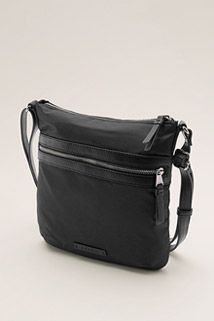 Esprit / Nylon bag with leather look trims