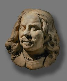 Rombout Verhulst modelled this portrait in clay while he was designing Michiel de Ruyter's large tomb monument for the Nieuwe Kerk in Amsterdam. The sculptor thoroughly studied painted portraits of the admiral for this commission. Verhulst kept this modello in his own possession until his death. Rijksmuseum.