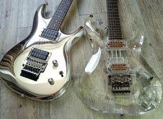 Rare Ibanez Joe Satriani limited edition, JS-10th Chrome Boy #182 & JS2K-PLT Joe Satriani Limited Crystal Planet Millennium Edition