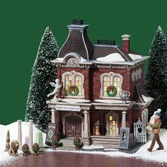 Department 56 Christmas In The City Architectural Antiques Set of 17 ** You can find more details by visiting the image link. (This is an affiliate link) Department 56 Christmas Village, Christmas Village Houses, Christmas Village Display, Halloween Village, Putz Houses, Christmas Villages, Christmas Decorations, Doll Houses, Christmas In The City