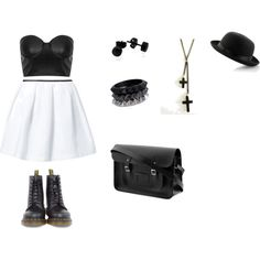 """Black and White"" by hanako-7 on Polyvore"