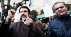 L'8 novembre è stato arrestato il sindaco di Adro, nel Bresciano, il leghista Oscar Lancini, con l'accusa di falso e turbata libertà degli incanti http://tuttacronaca.wordpress.com/2013/11/17/salvini-calderoli-e-borghezio-in-manette-manifestazione-per-lancini/