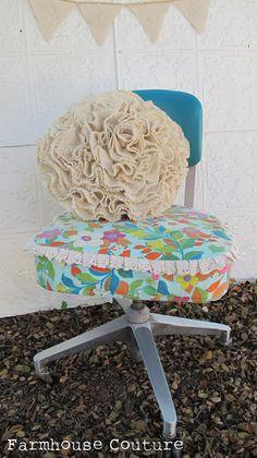 Cucire Chick Paese: cucito moda e fai da te: tela increspata Pillow Tutorial Rotondo