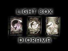 Illuminated Cut Paper Light Boxes Diorama - YouTube