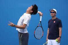 Kei Nishikori Photos: 2015 Australian Open - Day 7