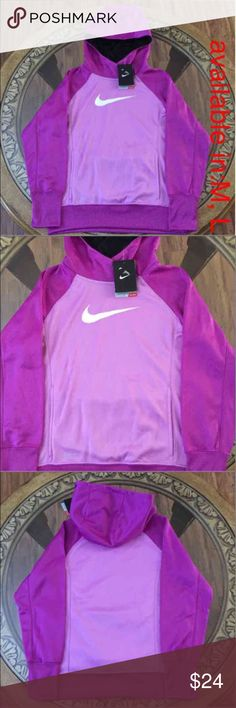 NIKE THERMA-FIT (L) GIRLS HOODIE --------AVAILABLE ON (M,L)--------- Brand New Nike Therma-Fit Size:L Girls Hoodie. The Nike KO 3.0 Over The Head Girls' Training Hoodie is made with Therma-FIT fabric for warmth and a mesh-lined hood for breathable coverage. PLEASE LET ME KNOW, WHAT SIZE WOULD YOU LIKE. Nike Jackets & Coats Blazers