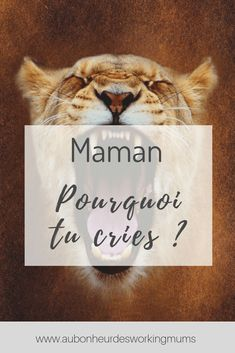 Maman, pourquoi tu cries ? - Au bonheur des Working Mums Education Positive, Working Mums, Crying, Parenting, Montessori, Jade, Pregnancy, Tips, Tired Mom