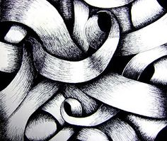 curved line drawings | shading/form/curved lines