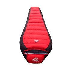 Best Mummy Sleeping Bag - Aektiv Outdoor 15 Degree Down Mummy Sleeping Bag, Mummy Style (28X8X82), Three Season(Spring, Summer, Fall) Camping and Hiking Sleeping Bag with Compression Sack, Lightweight, Ultra-Compactable, WaterProof (Red) >>> Read more reviews of the product by visiting the link on the image.