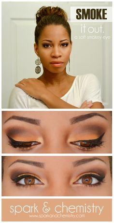 Soft Orange Smokey Eye Look