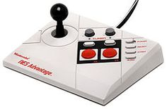 NES Advantage - arcade style controller released by Nintendo for the Nintendo Entertainment System in 1987. The device is meant to rest on a flat surface at a comfortable level, such as a tabletop or the floor, with the player seated behind it. This way, it could be used like an arcade game joystick. Since its successful release in the '80s, the NES Advantage has received little media attention, but has continued to be regarded as one of the best NES accessories ever produced.