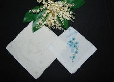 Vintage Hankie with Linen Wrapper by CheekyVintageCloset on Etsy, $9.50