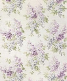 lovely lilac-patterned wallpaper  for a bathroom, dressing room or attic bedroom - someplace dreamy & romantic :)
