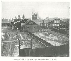 Notice the railroad spur which stops directly in front of Building F, the main warehouse. This spur provided the vital link between SJFPC's production and distant markets. The company benefited from a substantial cost savings because it did not have to carry its products to and from the train depot.